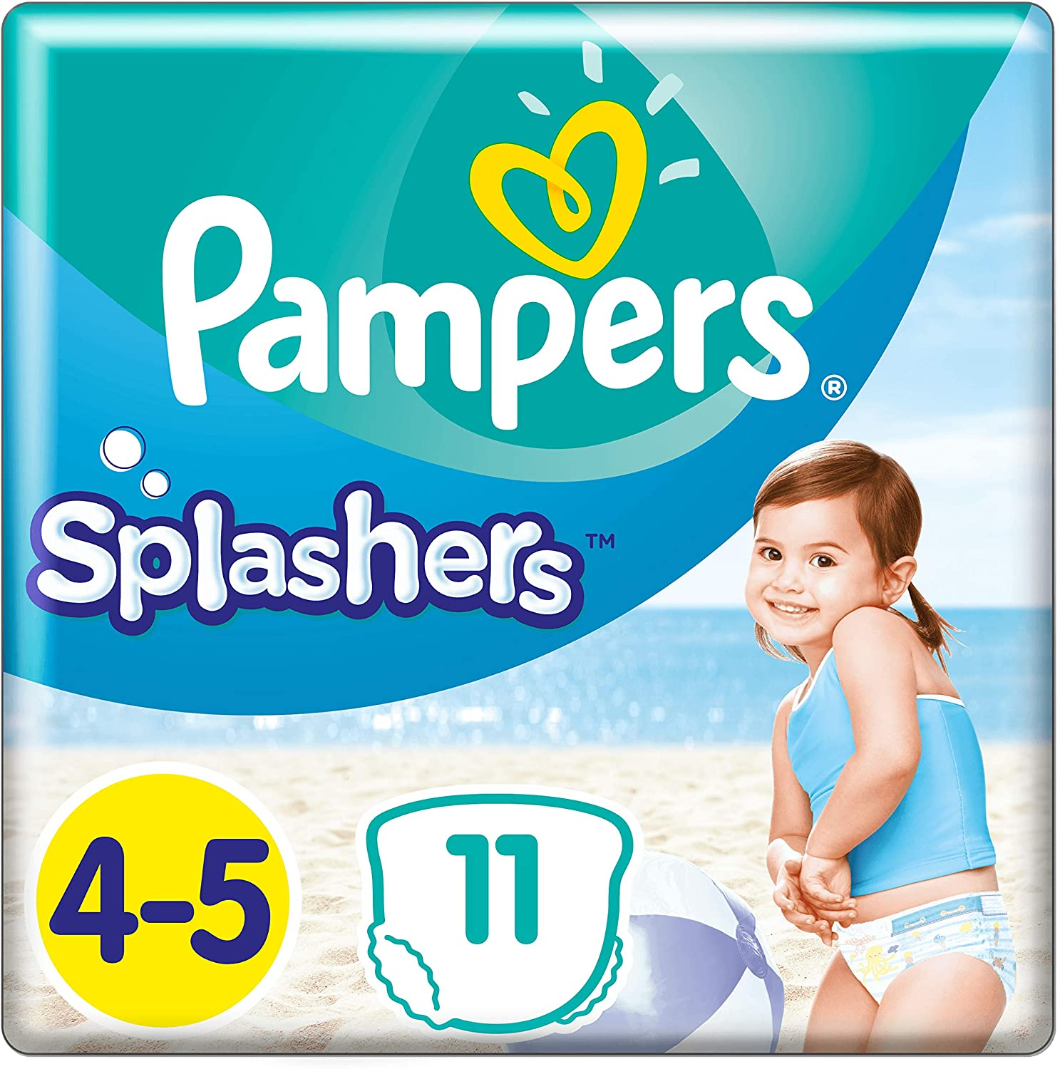foto producto Pañales Pampers Splashers Talla 4-5
