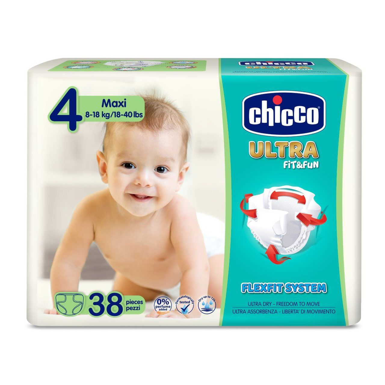foto producto Pañales Ultra Fit and Fun Chicco Talla 4