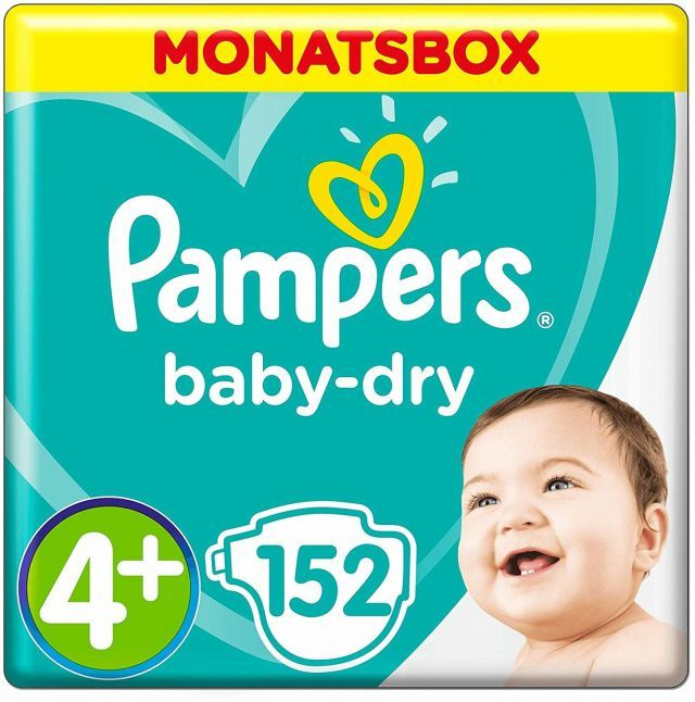 foto Pañal Pampers Baby dry Talla 4+